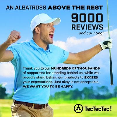 TecTecTec ULT-X Golf Rangefinder - Laser Range Finder with 1,000 Yards Range, Slope, Vibration, Easy Flagseeker and On/Off