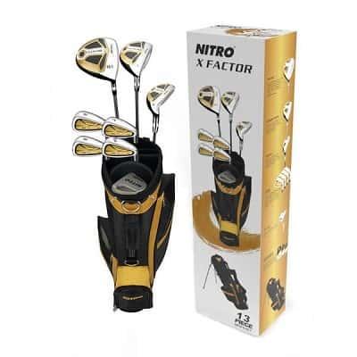 Nitro Golf - X Factor 13 Piece Complete Set With Bag Graphite-Steel